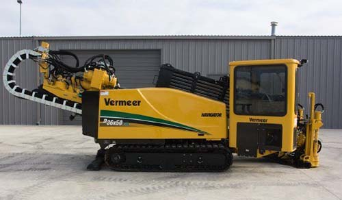 Yellow Vermeer machine